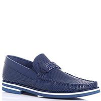 Синие туфли Baldinini с плетеным декором, фото