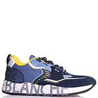 Синие кроссовки Voile Blanche из кожи и текстиля, фото