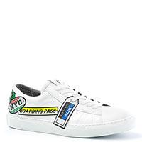Кеды Cesare Paciotti белые с логотипом, фото