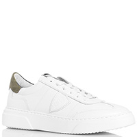 Белые кроссовки Philippe Model из гладкой кожи, фото
