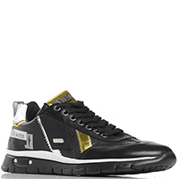 Черные кроссовки Cesare Paciotti Paciotti 4US на шнуровке, фото