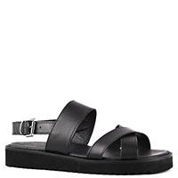 Мужские сандалии Trussardi Jeans из черной кожи, фото