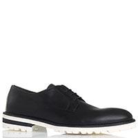 Кожаные туфли на шнуровке John Galliano черного цвета, фото