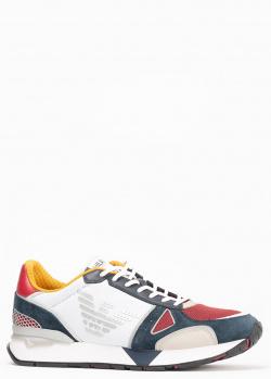 Мужские кроссовки Emporio Armani с замшевыми вставками, фото