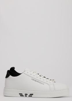 Кожаные кеды Emporio Armani на шнуровке, фото