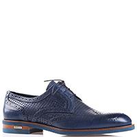 Синие туфли-дерби Baldinini с перфорацией, фото