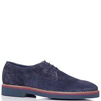 Туфли-дерби Fabi из замши синего цвета, фото