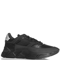 Черные кроссовки Frankie Morello на толстой подошве, фото