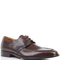 Туфли Borsalino коричневого цвета с наружным швом вдоль носка, фото