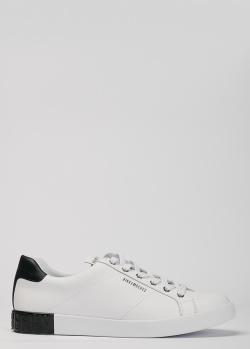 Белые кеды Bikkembergs с черной пяткой, фото