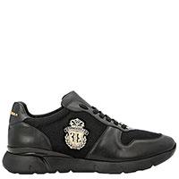 Черные кроссовки Billionaire с логотипом, фото