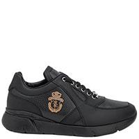 Черные кроссовки Billionaire с брендовым декором, фото