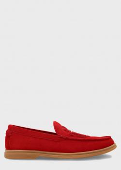 Мокасины Billionaire красного цвета, фото