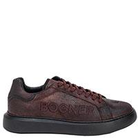 Коричневые кеды Bogner на шнуровке, фото