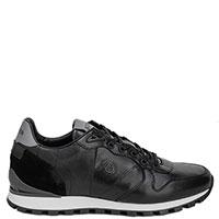 Черные кроссовки Bogner с брендовым тиснением, фото
