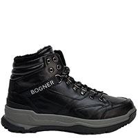 Черные ботинки Bogner с мехом, фото