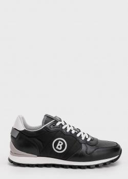 Черные мужские кроссовки Bogner из кожи и текстиля, фото