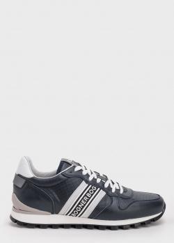 Темно-синие кроссовки Bogner с брендовой надписью, фото