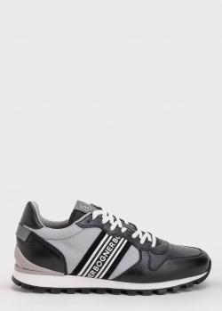 Кожаные кроссовки Bogner с текстильной вставкой, фото