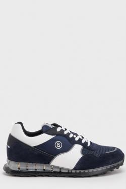 Синие кроссовки Bogner на прозрачной подошве, фото