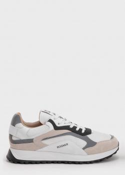 Белые кроссовки Bogner на шнуровке, фото