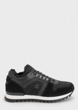Черные кроссовки Bogner с войлочными вставками, фото