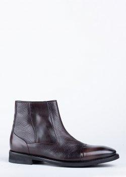 Ботинки Barrett из темно-коричневой кожи, фото