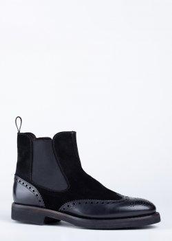 Черные ботинки Barrett из замши, фото