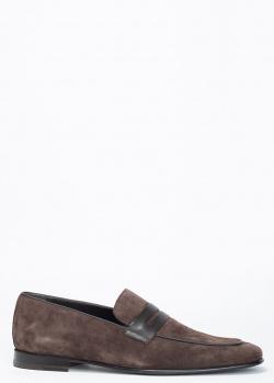 Лоферы Barrett из коричневой замши, фото