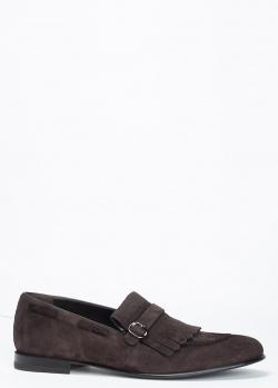 Лоферы Barrett из замши темно-коричневого цвета, фото