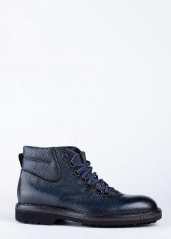 Синие ботинки Barrett на меху, фото