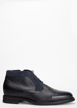 Ботинки Barrett из темно-синей кожи, фото