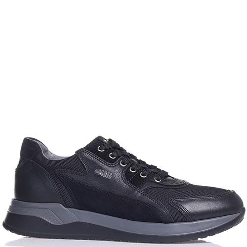 Кроссовки Paciotti на толстой подошве черного цвета, фото