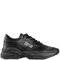 Мужские кроссовки Versace Jeans Couture черного цвета, фото