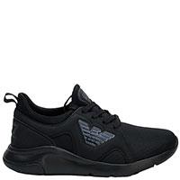 Черные кроссовки Emporio Armani из текстиля, фото