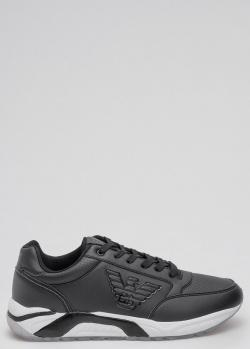Черные кроссовки EA7 Emporio Armani с логотипом, фото