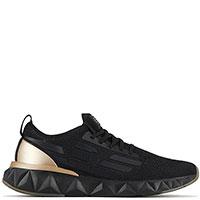 Черные кроссовки Ea7 Emporio Armani на рельефной подошве, фото