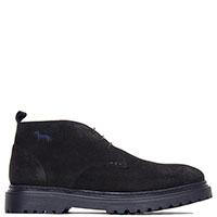 Черные мужские ботинки Harmont&Blaine из замши, фото