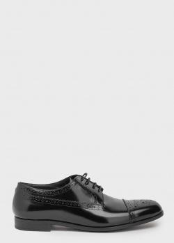 Туфли-броги Emporio Armani в черном цвете, фото