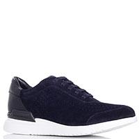 Синие кроссовки Emporio Armani на шнуровке, фото