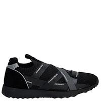 Мужские черные кроссовки Emporio Armani из текстиля, фото