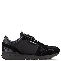 Кроссовки с лого Emporio Armani в черном цвете, фото