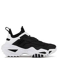 Черные кроссовки Emporio Armani на толстой подошве, фото