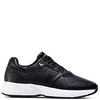 Черные кроссовки Emporio Armani из зернистой кожи, фото