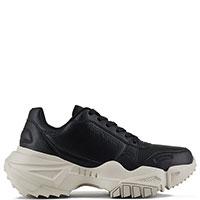 Черные кроссовки Emporio Armani с брендовым тиснением, фото