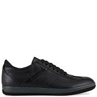 Черные кроссовки Emporio Armani на серой подошве, фото