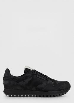 Кроссовки Emporio Armani с камуфляжным принтом, фото