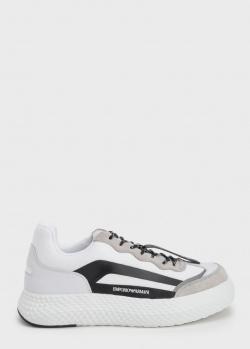 Кроссовки Emporio Armani с бежевыми и черными вставками, фото