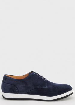 Туфли Emporio Armani из синей замши, фото