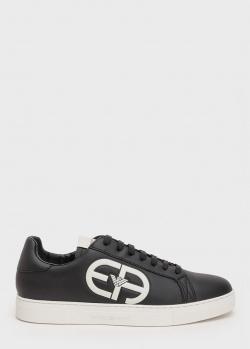 Черные кеды Emporio Armani из гладкой кожи, фото